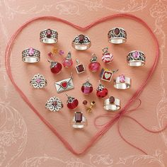 Shop for beautifully crafted gemstone jewelry at James Avery. Discover rings, necklaces, charms and more all with gorgeous gemstones. Cute Jewelry, Avery Jewelry, Jewlery, Pink Sapphire Ring, Red Gemstones, James Avery, Red Design, Gemstone Jewelry, Silver Jewelry