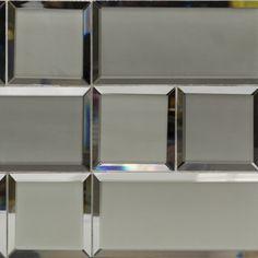 Dark Gray Beveled 4x12 Mirror Tile
