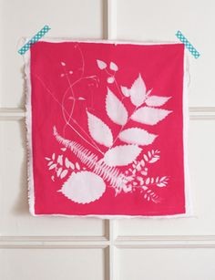 Make a botanical print on fabric using dye activated by the sun.