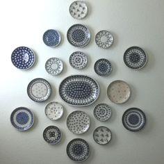 Polish pottery plate display
