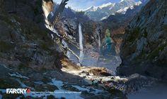 ArtStation - FarCry4 Concept Art - Mountain path, Donglu Yu