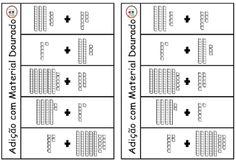 SOS PROFESSOR-ATIVIDADES: Adição com Material Dourado Preschool Spanish, Counting To 100, 2nd Grade Math, Literacy, Sos Professor, Education, Notebooks, Origami, Base