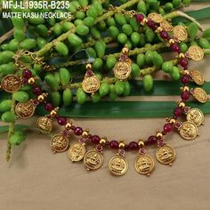 Image may contain: 1 person Jewelry Design Earrings, Gold Earrings Designs, Ruby Jewelry, India Jewelry, Ruby Necklace, Coin Necklace, Temple Jewellery, Necklace Designs, Gold Jewelry Simple