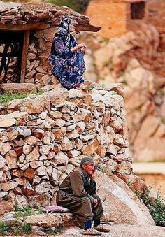 amazing veiw from kurdistan .. old man and woman
