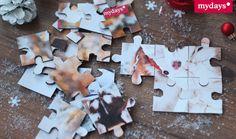 DIY Adventskalender Inhalt: Foto Puzzle - Klein aber fein und am besten auch noch persönlich soll der Inhalt des Adventskalenders sein. Na, wie wäre es dann mit einem Foto-Puzzle! Die Anleitung dazu findest Du in unserem mydays Magazin