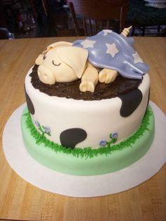 Sleeping pig cake.