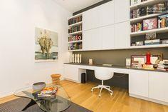 Desk area in office