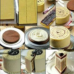 zo krijg je een gestreepte cake