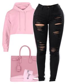 """""""11:55"""" by alexanderbianca ❤ liked on Polyvore featuring Yves Saint Laurent and Givenchy"""