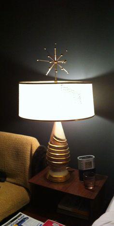 My new starburst atomic lamp finial.
