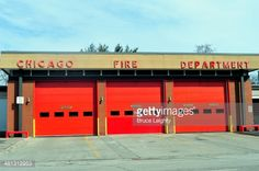 Modern fire station on Garfield Blvd. on Chicago's south side. This type of design has been the recent common standard and represents a departure from the distinctive neighborhood fire house.