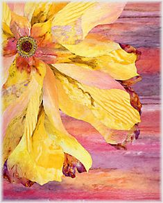 Barbara Olson - Patterns  And the color in this is scrumptious....I know a yellow bedroom that would love having this on the wall!!