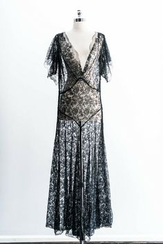 http://shopgossamer.com/collections/dresses/products/black-silk-chantilly-gown