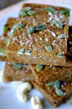 Vegan Pumpkin Pie Energy Bars (gluten free, protein addition optional)