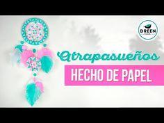 DIY SUPER FACIL Atrapasueños de papel sin tejer   DREEN - YouTube