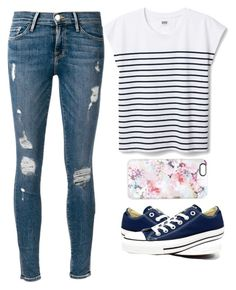 """Untitled #35"" by emreichert ❤ liked on Polyvore featuring Frame Denim, Casetify and Converse"