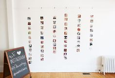Wall of hanging Instagram photos of baby's 1st year | 100 Layer Cakelet