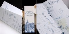 Tri-fold Chicago Wedding Map