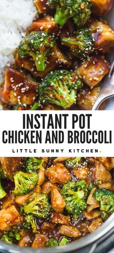 Super easy dump and start Instant Pot chicken and broccoli dinner made in 20 minutes from start to finish!