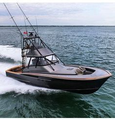Introducing the brand new custom Jarrett Bay 46 GRANDER - an absolute fishing machine! Yacht by Nickle Ray Fishing gear by by denison_superyachts Ocean Fishing Boats, Sport Fishing Boats, Cool Boats, Small Boats, Yacht Boat, Pontoon Boat, Speed Boats, Power Boats, Bateau Yacht