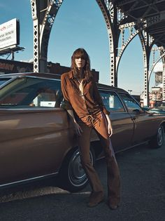 The nonchalance and grit of late 70s Manhattan takes center stage in new editorials from Parisienne staples Vogue Paris and Numéro. In Lachlan Bailey (Management + Artists)'s striking VP story, Vanessa Moody is a chic beauty with a shag haircut and a wardrobe of 70s staples, from ribbed turtlenecks to navel grazing necklaces. Géraldine Saglio (Management + Artists) pulls out all the stops creating an authentically retro wardrobe for Moody.
