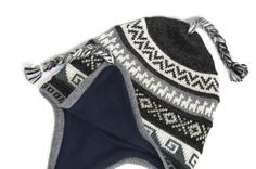 Comfortable and Cozy Alpaca CHULLO CHARCOAL color beanie w/ fleece lining! FREE ship. to U.S.A