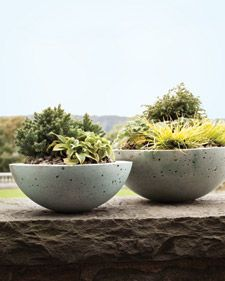 homemade pots - hypertufa - diy