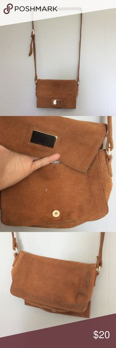 Zara small tan suede purse Some marks see pic mostly inside and on back Zara Bags Crossbody Bags