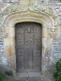 Secret door French Chateau Rochefort-en-Terre, Brittany' France