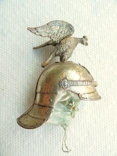 Image detail for -Antique German Christmas Ornament - RARE DRESDEN PRUSSIAN HELMET w ...