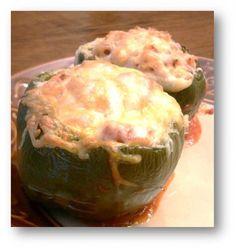 Stuffed Bell Peppers (Vegetarian) | Meatless Monday Recipe