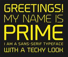 Font Inspirations: Prime