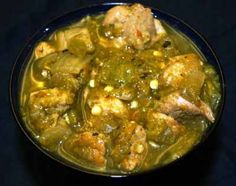 Old Fashioned Colorado Green Chile Stew. Add one jar greem tamatillo and a few potatoes Chilli Recipes, Pork Recipes, Cooking Recipes, Recipies, Pork Meals, Pepper Recipes, Healthy Recipes, Cooking Ideas, Mexican Dishes