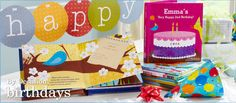 My Very Happy Birthday!  Personalized board book... perfect little birthday gift for babies, toddlers and preschoolers!