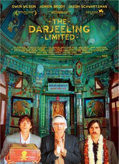 The Darjeeling Limited-re-watched this film because I've been on a huge Wes Anderson kick lately. My second favorite Wes Anderson film-SO, SO good. But I HIGHLY recommend watching this edited-rated R for strong language and content, just fyi!