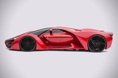 Amazing Ferrari F80 Supercar. Concept car though.