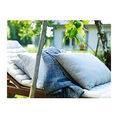 IKEA - HÅLLÖ, Coussin dossier, extérieur, , Vous pouvez rendre votre canapé ou votre fauteuil de jardin encore plus confortable en utilisant ce coussin comme soutien lombaire ou comme accoudoir.Prolongez la durée de vie du coussin en le retournant car il peut être utilisé des deux côtés.