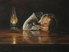 Fine Art and You: Atanas Matsoureff La Reverie, Gold Art, Sculpture, Light Painting, Painting Art, Figure Painting, Beautiful Paintings, Painting Techniques, Watercolor Paintings