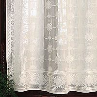 ✓Grecian 100% Cotton Lace Curtain Panel: Each panel is woven in Scotland using traditional methods and the finest creamy white 100% cotton.