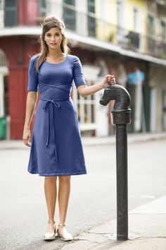Day at the Park Dress Navy from the Spring Collection by Shabby Apple