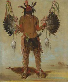Mah-tó-he-ha, Old Bear, a Medicine Man by George Catlin / American Art