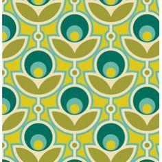 Joel Dewberry Notting Hill Fabric - Primrose - Aquamarine 60s Patterns, Textures Patterns, Vintage Patterns, Fabric Patterns, Print Patterns, Modern Patterns, Surface Design, Textile Design, Fabric Design