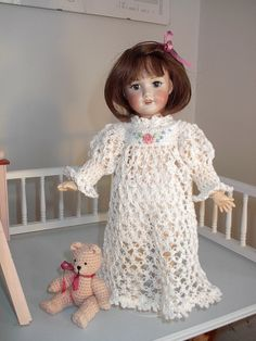 This nightgown pattern was created several years ago, when I was first bitten by the Bleuette bug.  I'm posting the pattern here, but it m...