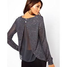 Lipsy Chiffon Back Sequin Slash Jumper and other apparel, accessories and trends. Browse and shop related looks. Style Couture, Couture Mode, Couture Fashion, Fashion Beauty, Girl Fashion, Womens Fashion, Pretty Outfits, Cute Outfits, Latest Fashion Clothes