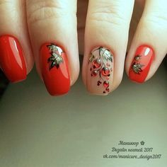 Here is a tutorial for an interesting Christmas nail art Silver glitter on a white background – a very elegant idea to welcome Christmas with style Decoration in a light garland for your Christmas nails Materials and tools needed: base… Continue Reading → Autumn Nails, Fall Nail Art, Winter Nails, Cute Spring Nails, Cute Nails, Pretty Nails, Nail Designs Spring, Nail Art Designs, American Nails