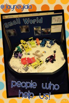 My small world tray for the topic: People who help us!