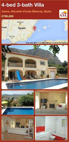 4-bed 3-bath Villa in Javea, Alicante (Costa Blanca), Spain ►€790,000 #PropertyForSaleInSpain