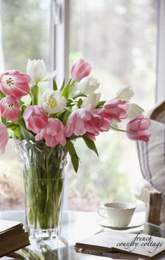 Spring bouquet in Mikasa Greyson Vase // French Country Cottage