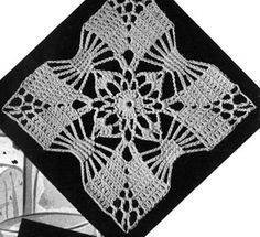 Classic Motif crochet pattern from Bedspreads, originally published by the Spool Cotton Company, Book 151, in 1940.