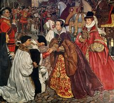 Queen Mary and Princess Elizabeth Entering London - John Byam Liston Shaw